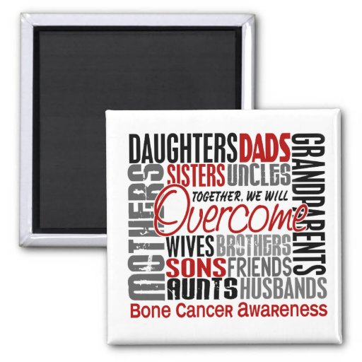 Family Square Bone Cancer Fridge Magnets