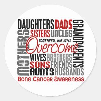 Family Square Bone Cancer Sticker