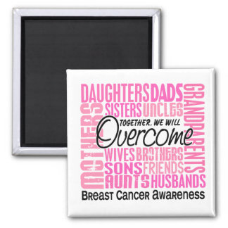 Family Square Breast Cancer Square Magnet