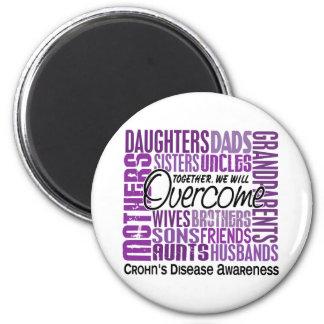 Family Square Crohn's Disease 6 Cm Round Magnet