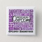 Family Square Epilepsy 15 Cm Square Badge