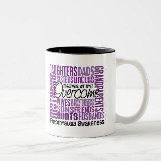Family Square Fibromyalgia Two-Tone Mug