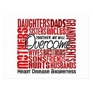 Family Square Heart Disease Postcard