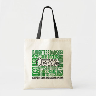 Family Square Kidney Disease Tote Bags