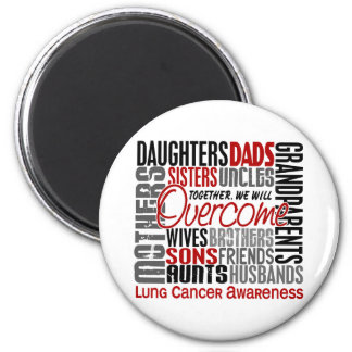 Family Square Lung Cancer Magnets