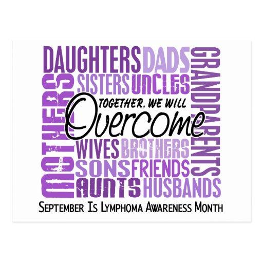 Family Square Lymphoma Awareness Month Postcards