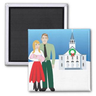 Family Square Magnet