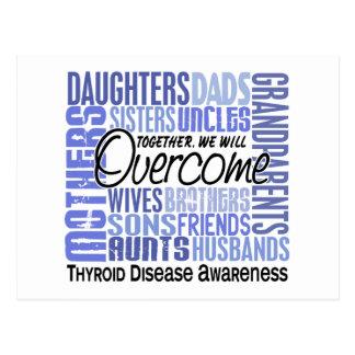 Family Square Thyroid Disease Postcard