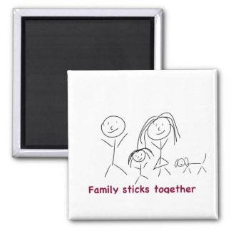 Family Sticks Together Magnet