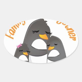 Family Sticks Together Oval Sticker