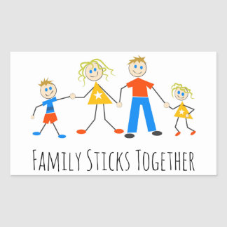 Family Sticks Together Rectangular Sticker