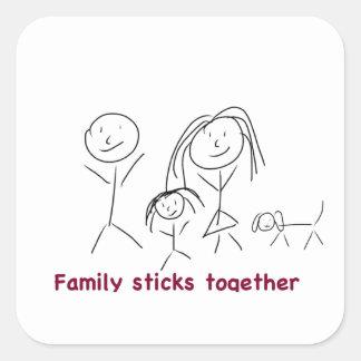 Family Sticks Together Sticker