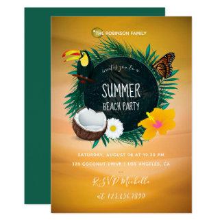 Family Summer Holiday Beach Party invitation