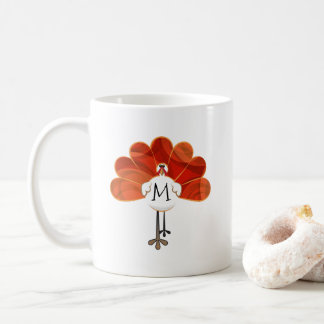 Family Thanksgiving Turkey Monogrammed Coffee Mug