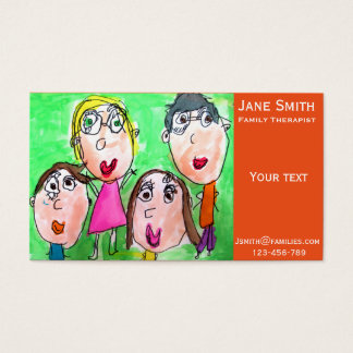 Family therapist family counsellor cute business card