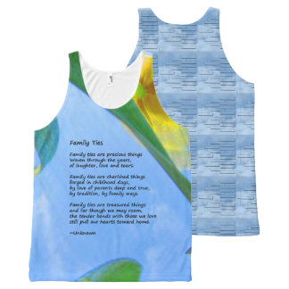 Family Ties Tree Tank Top All-Over Print Tank Top
