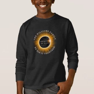 Family Totality Solar Eclipse Personalized T-Shirt