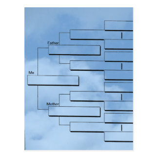 Family Tree Chart Postcard