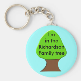 Family Tree Customizable Keychain