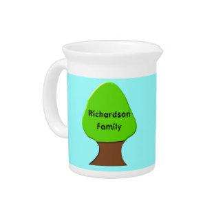 Family Tree Customizable Pitcher
