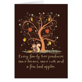 Family Tree Humor Design Greeting Card