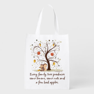 Family Tree Humor Reusable Grocery Bag