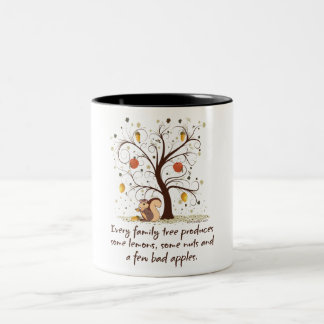 Family Tree Humor Two-Tone Coffee Mug