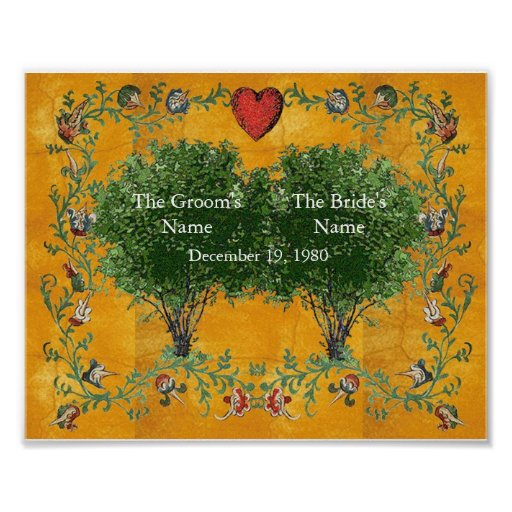 Family Tree - Marriage Poster