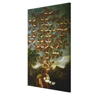 Family Tree of the Cornaro Family Canvas Print
