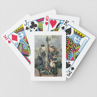 Family Tree of the Sammartin Family, 1787 Bicycle Playing Cards