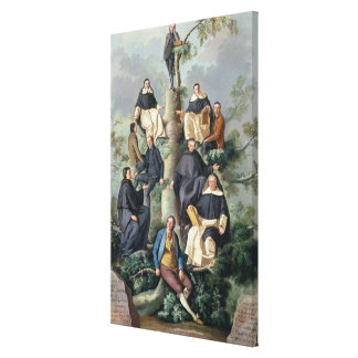 Family Tree of the Sammartin Family, 1787 Stretched Canvas Prints