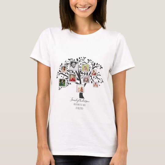 Family Tree Photo Collage Template Personalised T-Shirt