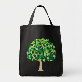Family Tree Puzzle Tote Bag