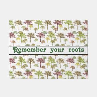 Family Tree Roots Art Quote Doormat