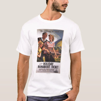 Family Trio on Holiday Runabout Savings T-Shirt