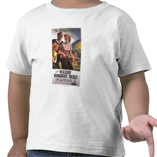 Family Trio on Holiday Runabout Savings Shirt