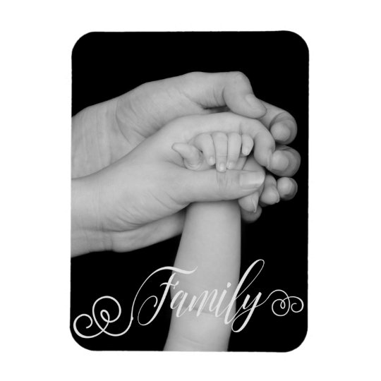 FAMILY Typography Photo Overlay Magnet