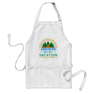 Family Vacation Funny Camping Trip | Custom Name Standard Apron
