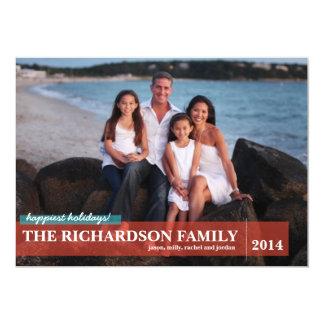 Family with Back Photo 13 Cm X 18 Cm Invitation Card
