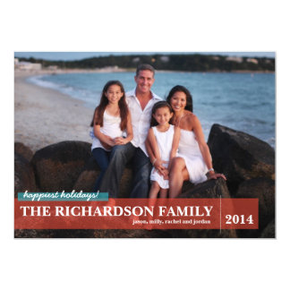 Family with Back Photo Card