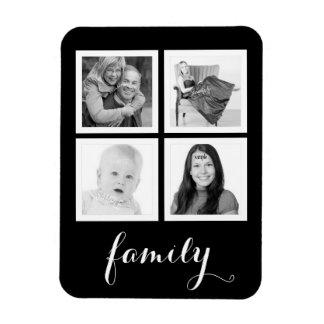Family with Four Photos Rectangular Photo Magnet