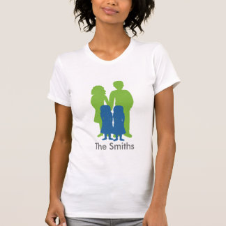 Family with twin girls shirts
