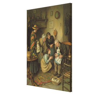 Family Worship, from the Pears Annual, 1911 Canvas Print