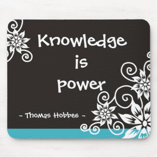 Famous 3 Word Quotes - Thomas Hobbes quote Mouse Mat