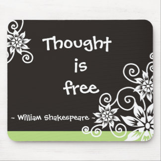 Famous 3 Word Quotes -William Shakespeare quote Mouse Mat