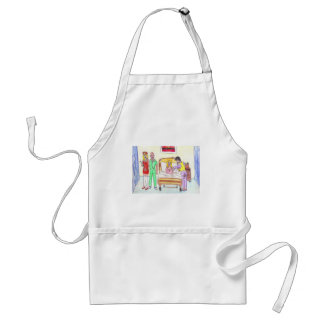 famous 4 play doctors and nurses standard apron
