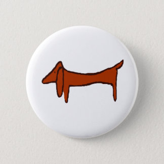 Famous Abstract Dachshund 6 Cm Round Badge