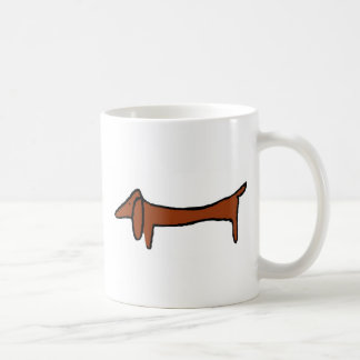 Famous Abstract Dachshund Basic White Mug