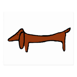 Famous Abstract Dachshund Postcard