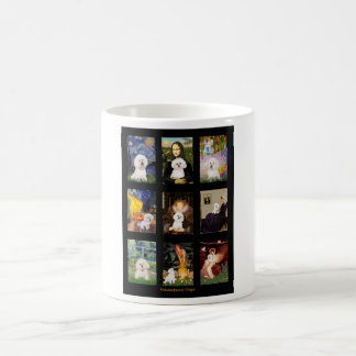Famous Art Bichon Frise Composite Basic White Mug